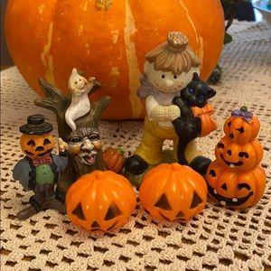 6pc Halloween Lot! Scarecrow pumpkins ghost!💕